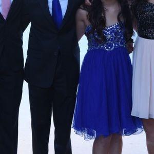 Group USA blue prom dress